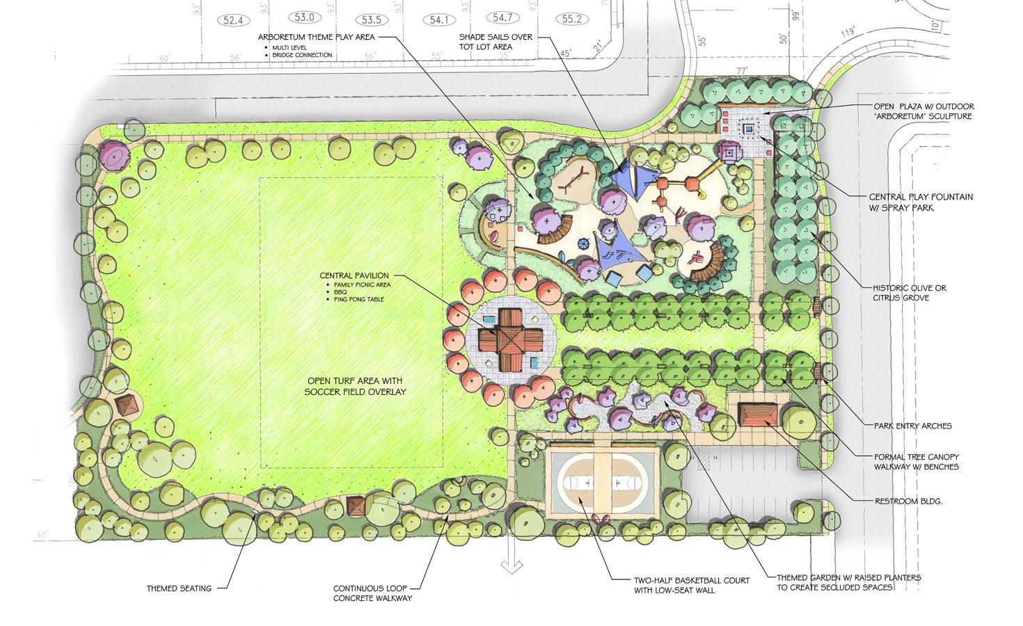 Oak Grove Park - The Arboretum - Landscape Plan - Web - 01