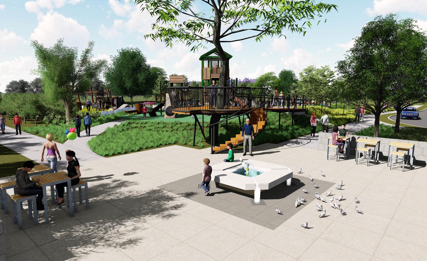 Oak Grove Park - The Arboretum - Lumion - Web - 02