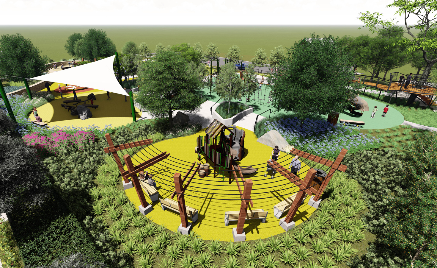 Oak Grove Park - The Arboretum - Lumion - Web - 04
